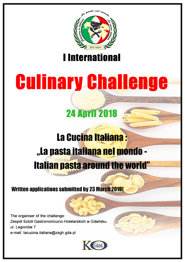 "I International Culinary Contest ""La pasta italiana nel mondo – Italian pasta around the world"""